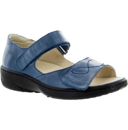 Siri marinblå sandal med hälkappa