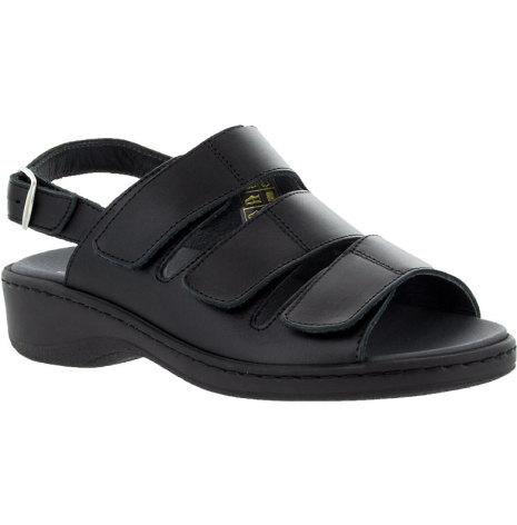 Annelie svart sandal med hälrem, on-steam