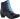 Leona marinblå stövlett med dragkedja