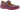 Tilda aubergine ballerina i skinn med kardborre