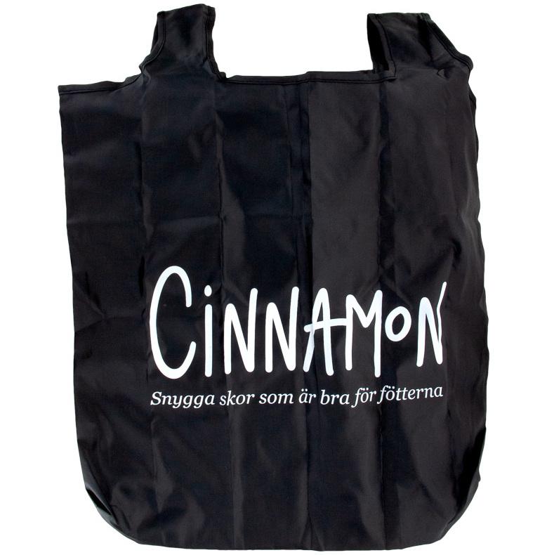 Shoppingkasse i fodral svart med Cinnamontryck