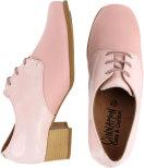 Eleonora rosa snörsko m flexfront och låg klossklack
