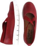 Rut röd ballerina med resårer