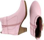Dalia rosa skinnstövlett, dragkedja, resår