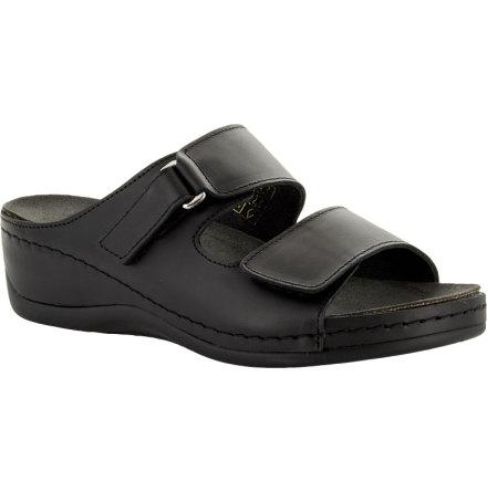 Ebba svart slip in sandal med kilklack
