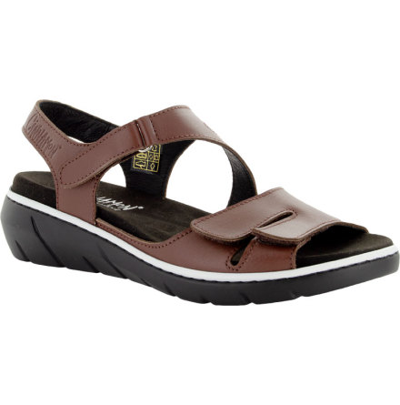 Marina brun sandal med kardborrar