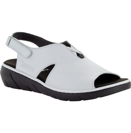 Marie vit hel sandal med hälrem