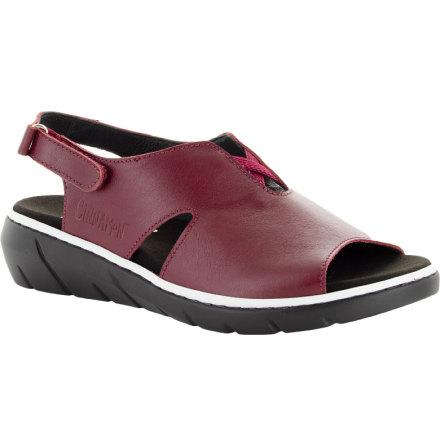 Marie mörkröd hel sandal med hälrem