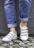 Hailey vit sko med kardborrar