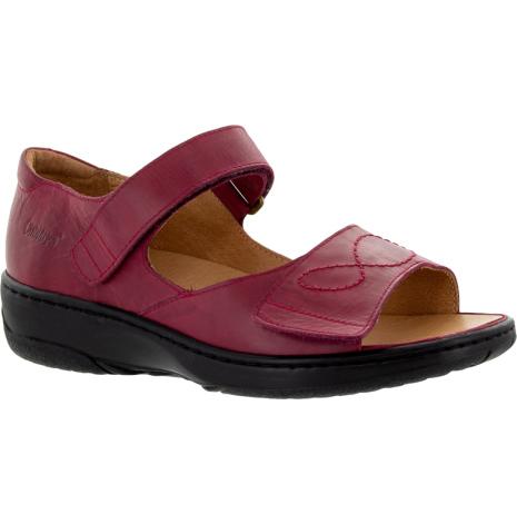 Siri mörkröd sandal med hälkappa