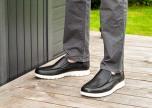 Jesper svart loafer med resårinfällningar