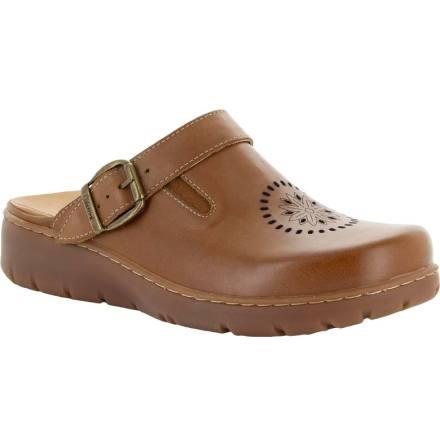 """Kiara konjak """"trä""""sko med perforeringar o fällbar rem"""