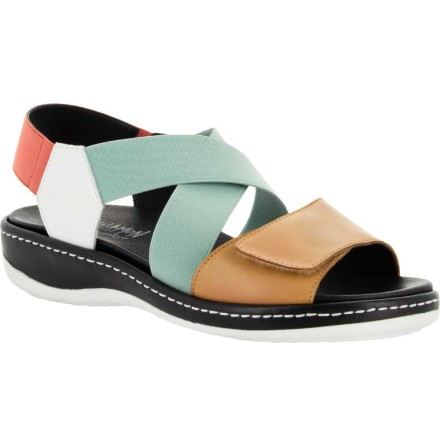 Helena multi sandal med resårer och kardborre