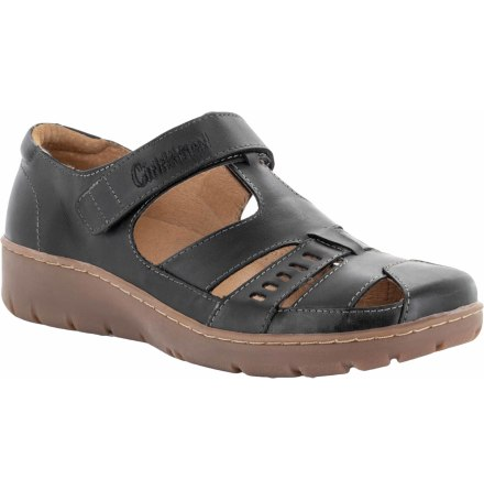 Kaja svart stängd sandal med kardborre