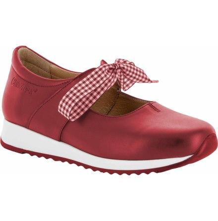 Lina röd ballerina med knytband