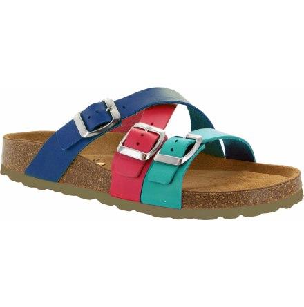 """Josefine turkos """"bio""""sandal med reglerbara spännen"""