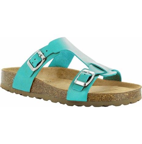 """Jill turkos """"bio""""sandal med reglerbara spännen"""