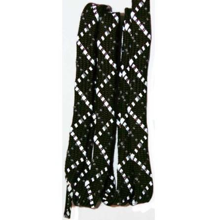 Skosnöre mörkbrun reflex 140cm