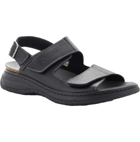 Sture svart sandal med hälrem