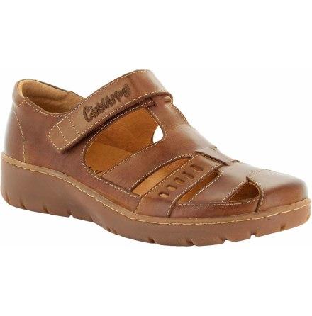Kaja brun stängd sandal med kardborre