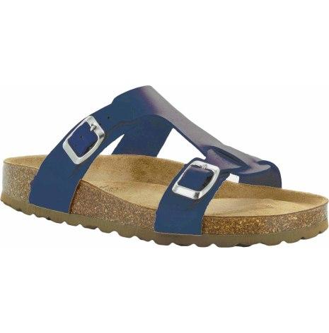 """Jill kornblå """"bio""""sandal med reglerbara spännen"""