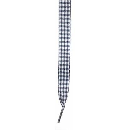 Skosnöre rutigt marinblått/vitt 110cm