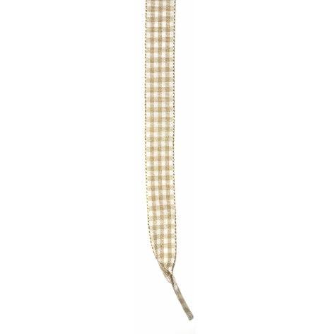 Skosnöre rutigt beige/vitt 110cm