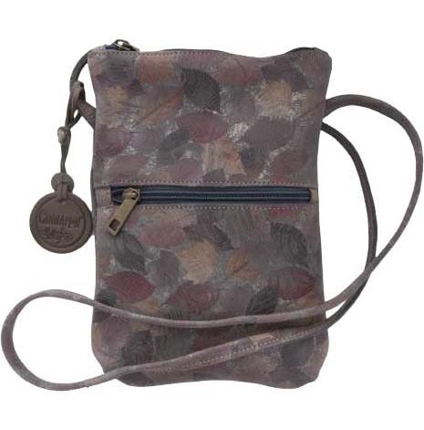Citybag höstlöv brun 212 i skinn med blommigt foder