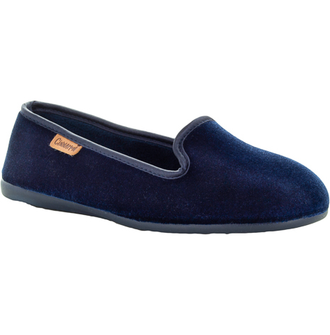 Emmy marinblå sammetstoffel loafermodell