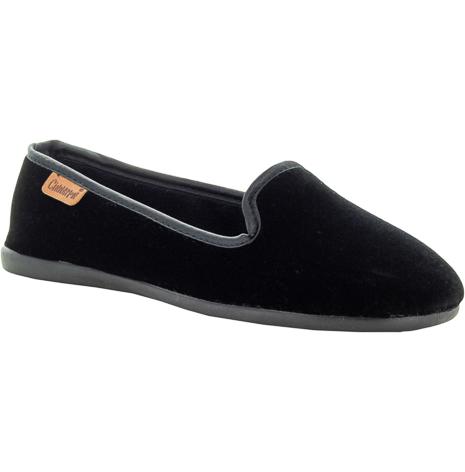 Emmy svart sammetstoffel loafermodell