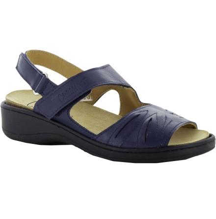 Janina blå sandal skinn med Suaflex