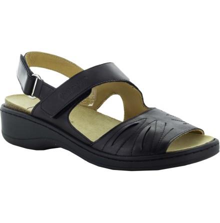 Janina svart sandal skinn med Suaflex