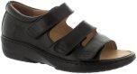 Laila svart sandal med hälkappa Hallux