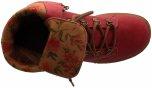 Tilde röd uppfällbar snörkänga i skinn