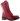 Ninni röd känga med snörning och dragkedja