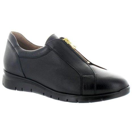 Cindy svart lätt sko med dragkedja & extra innersulor