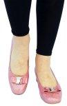 Angelina gammelrosa lack pumps med klossklack och rosett