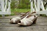 Renata beige pumps med extra innersulor & ficka